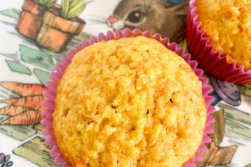 carrot coconut ginger muffins