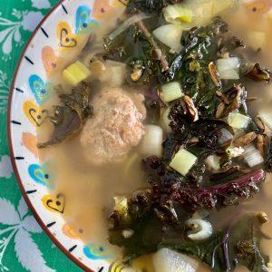 kale wild rice soup