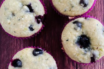 Blueberry coconut lime muffin