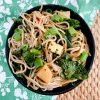 sesame noodles with kohlrabi