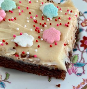 Coca-Cola Sheet Cake with Cream Cheese Peanut Butter Frosting