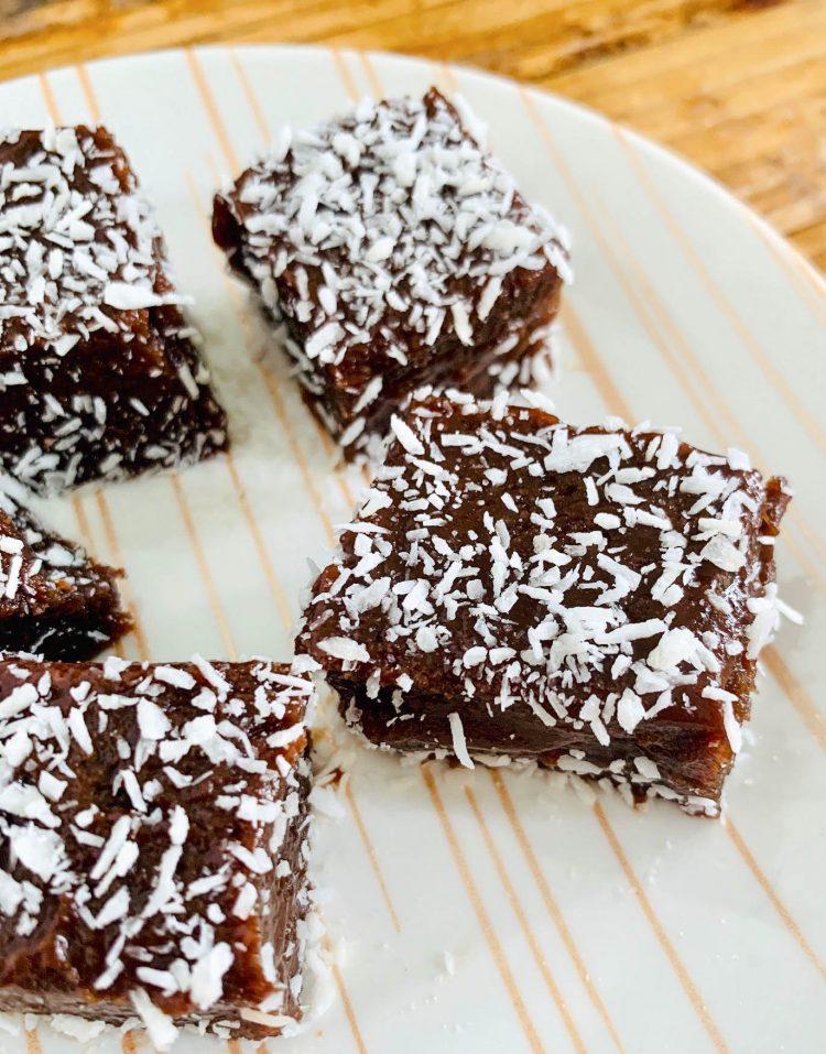 coconut chocolate butterscotch butter mochi