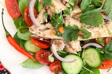 thai-ish sardine salad