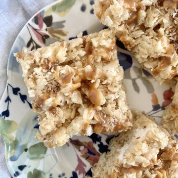 Toasted coconut Rice Krispies treats