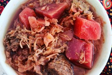 sauerkraut beet beef soup
