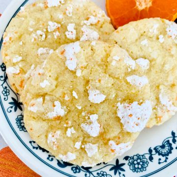 mandarin orange crinkle cookies