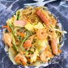 Singapore Noodles with Shrimp and Ham