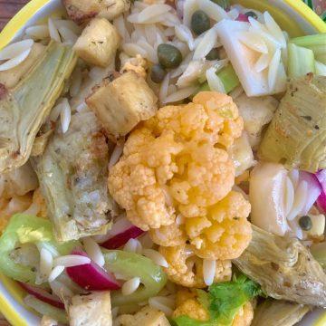 cauliflower tofu salad