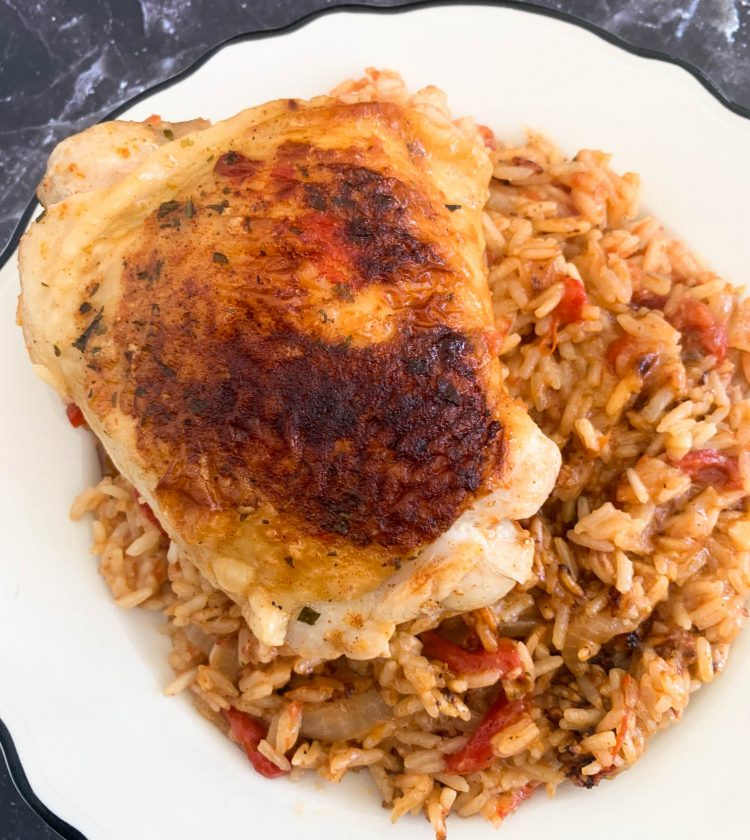 ranch chipotle chicken with salsa rice